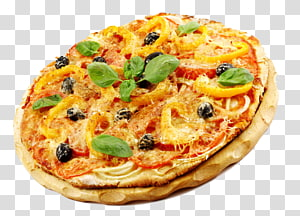 pizza pepperoni, pizza Sisilia pizza gaya California masakan Italia Masakan vegetarian, Pizza png