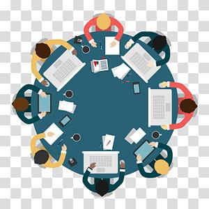 ilustrasi meja bundar, Bisnis Pertemuan Meja Bundar, Siapa yang rapat PNG clipart