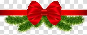 garland hijau dan pita merah, Cocktail Martini Christmas Eggnog, Christmas Red Ribbon png