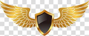 perisai emas dengan ilustrasi sayap, PlayerUnknowns Battlegrounds Maltese cross Decal Security, tangan dicat sayap emas png