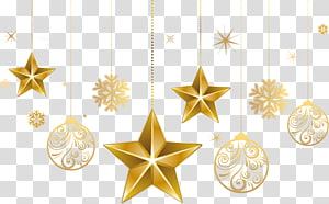 bintang emas dan dekorasi perhiasan, ornamen Natal Bintang pohon Natal Bethlehem, ornamen Natal Bintang png