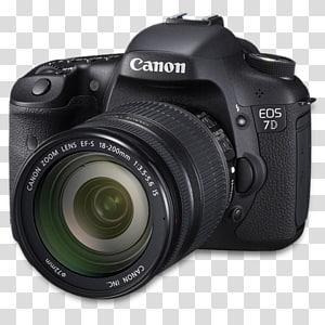 kamera refleks lensa tunggal kamera digital kamera & optik, sisi 7d, kamera Canon EOS 7D hitam png