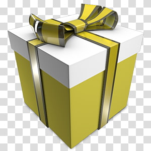 ilustrasi kotak hadiah kuning dan putih, hadiah sudut kuning, Hadiah 03 png
