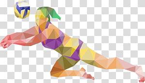 seni pemain voli coklat dan beraneka warna, Pelatihan Voli Olahraga Pantai, Pemain Voli Wanita png