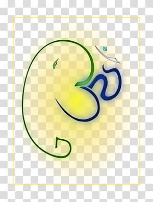 ilustrasi garis hijau dan biru, Krishna Shiva Ganesha Ganesh Chaturthi Dewa, Ganesha png