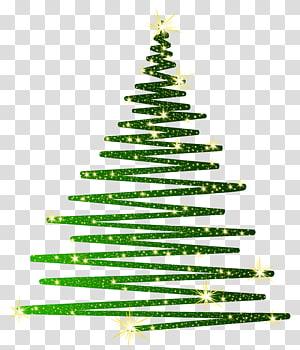 ilustrasi pohon Natal hijau, pohon Natal Hijau, Pohon Natal Hijau Cemerlang png