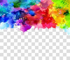 Lukisan cat air, latar belakang grafiti, lukisan abstrak merah muda, hijau, dan biru png