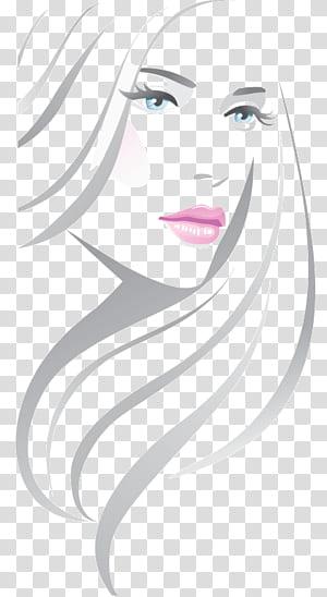 Beauty Parlor Illustration, Line fashion beautiful, ilustrasi potret wanita PNG clipart