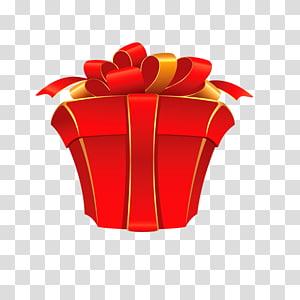 ilustrasi hadiah pita merah, kotak pembungkus Kado Pita, Hadiah png