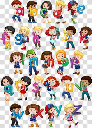 seni alfabet, Ilustrasi Wanita Huruf Euclidean Anak, yang dilukis dengan tangan yang memegang huruf Inggris png