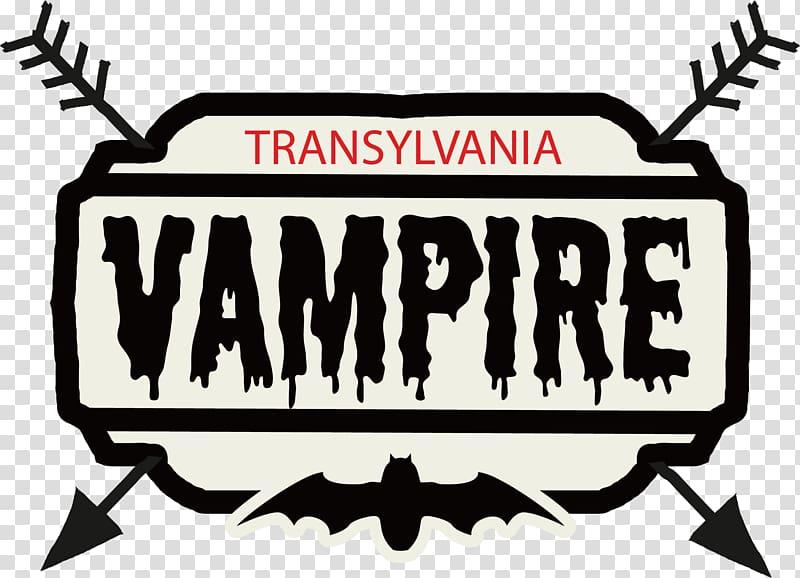 putih dan hitam Transylvania Vampire logo, lukisan Cat Air Poster Resolusi Tahun Baru, efek cat air merah PNG clipart