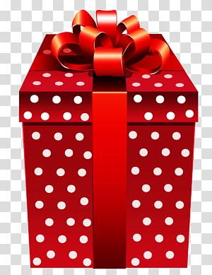 kotak hadiah merah, Kotak Hadiah, Hadir Merah Bertitik png