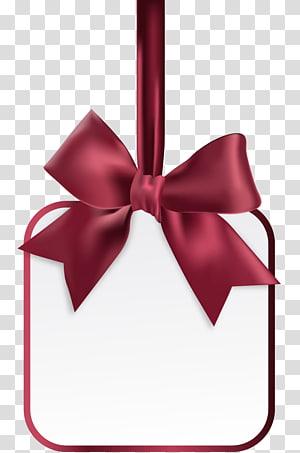 seni pita merah, pita kartu hadiah, dekorasi pita busur kosong png