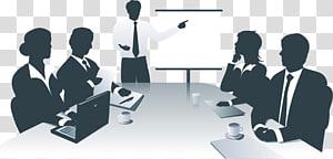 pria yang bertemu dengan ilustrasi rekan kerja, Informasi Presentasi Bisnis, pertemuan kantor bisnis png