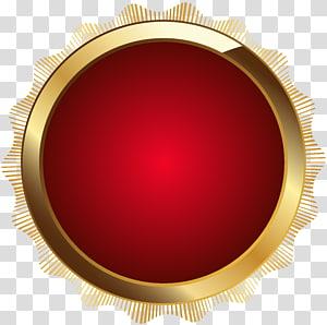logo bulat merah dan coklat, Produk Desain Lingkaran, Seal Badge Red PNG clipart