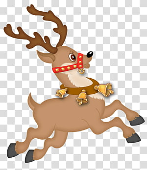 Ornamen Natal Rusa Santa Claus Karakter, Rusa Lucu, ilustrasi rusa png