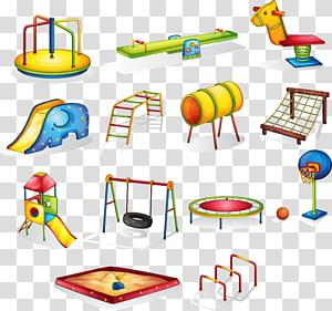 ilustrasi bermain aneka-warna, Kartun Taman Bermain, fasilitas bermain Kartun mainan anak-anak PNG clipart