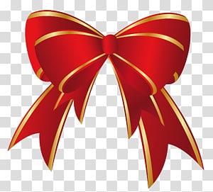 Hadiah Natal, Busur Emas Merah Natal, ilustrasi busur merah dan coklat png