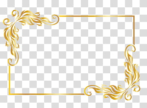 , Bingkai emas, ilustrasi bingkai emas persegi panjang png