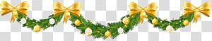 Dekorasi Natal, Ornamen Natal, Karangan Bunga Pinus Natal Besar, karangan bunga hijau dan kuning dan ilustrasi dekorasi dasi kupu-kupu png