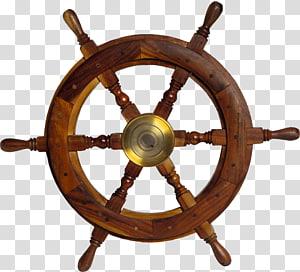 ilustrasi roda kemudi kapal coklat, Kapal layar Sailor Boat, jangkar png