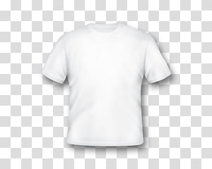 ilustrasi t-shirt crew-neck putih, Pakaian Lengan T-shirt Dicetak, Templat T-Shirt Kosong png