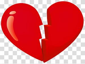 Patah hati, Valentine Red Patah Hati, stiker hati merah rusak png