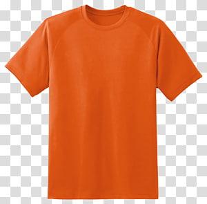 kemeja crew-neck oranye, T-shirt Hoodie Sleeve Clothing, T Shirt png