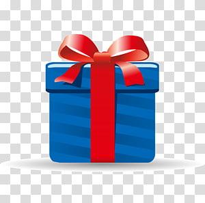 ilustrasi kotak hadiah merah dan biru, Hadiah Natal, Hadiah png
