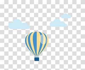 ilustrasi balon udara biru dan kuning, Pola udara, Pola balon helium PNG clipart