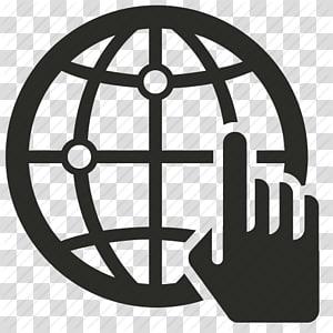 tangan menunjuk dan ilustrasi logo globe, pemasaran Digital pengembangan Web Ikon Komputer World Wide Web, File Web Seluruh Dunia Gratis png