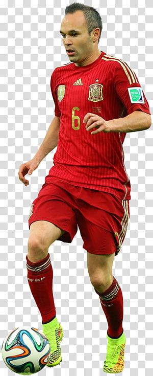 sepak bola bermain sepak bola menendang, Andrés Iniesta Tim sepak bola nasional Spanyol FC Barcelona Rendering, fc barcelona png