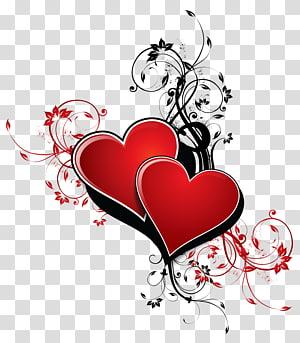 dua karya seni merah hati, Hari Libur Poster Paper Hadiah Hari Valentine, Hati dengan Dekorasi png