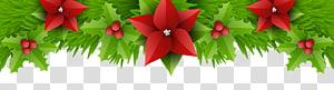 ilustrasi daun hijau, Natal, Dekorasi Perbatasan Natal PNG clipart