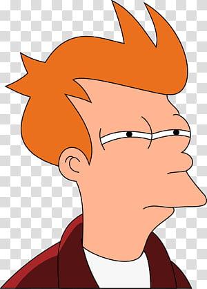 ilustrasi karakter kartun pria berambut oranye, Philip J. Fry Bender Leela Sticker, futurama png