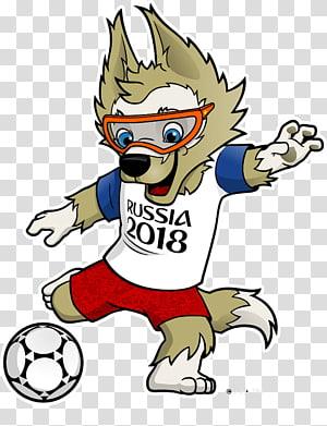 serigala bermain sepak bola Russia 2018 art, 2018 World Cup Group A 2017 FIFA Confederations Cup Russia Zabivaka, Russia png