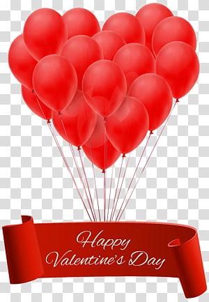 Selamat Hari Valentine, Balon Jantung Hari Valentine, Spanduk Selamat Hari Valentine dengan Balon png
