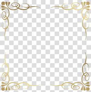bingkai, Bingkai Perbatasan Dekoratif, bingkai bunga kuning PNG clipart
