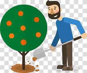 Poster Google Tree, Manusia menanam pohon png