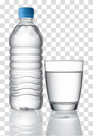 Air botolan Air mineral Air minum, botol air mineral, botol plastik bening dan gelas minum png