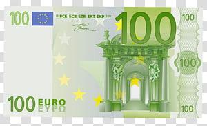 100 euro note Uang kertas 20 euro note 50 euro, 100 Euro, 100 euro uang kertas png