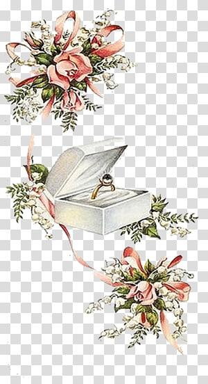 Undangan pernikahan Cincin kawin Pengantin, Cincin kawin, Cincin berwarna emas dalam ilustrasi kotak png