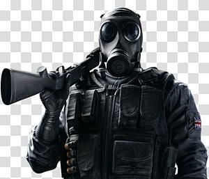pria mengenakan topeng dan memegang seni senapan, permainan video Asap Tom Tom Clancys Rainbow Six Siege, Tom Clancys Rainbow Six HD png