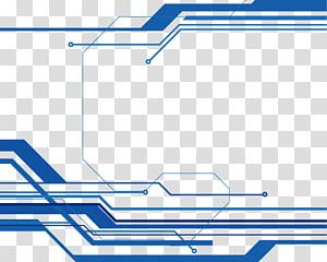Teknologi Euclidean, perbatasan Blue Line, garis biru png
