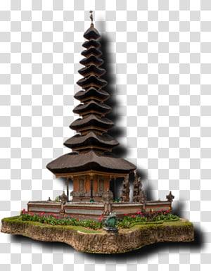 ilustrasi candi pagoda coklat, Gunung Batur Pura Ulun Danu Bratan Pura Ulun Danu Batur Danau Buyan Temple, bali png
