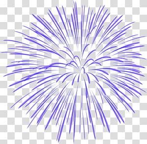 ilustrasi kembang api ungu, Fireworks, Blue Firework PNG clipart