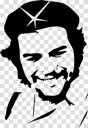 ilustrasi pria tersenyum, Mobil Dinding decal stiker Bumper, Che Guevara png