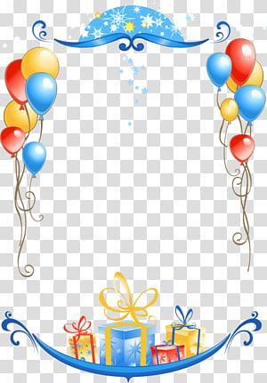 Selamat Tahun Baru 2018 Selamat Tahun Baru, bingkai Ulang Tahun 2018, Bingkai Ulang Tahun, balon dan ilustrasi bingkai hadiah png