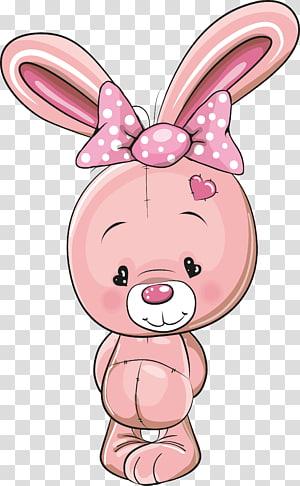 ilustrasi kelinci merah muda, Menggambar Kelucuan Kelinci, Kelinci kecil yang lucu png