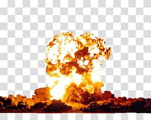 Ledakan nuklir Bom senjata nuklir, Awan jamur ledakan nuklir, ilustrasi ledakan api png